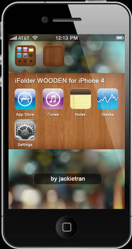 iFolder WOODEN for iPhone 4