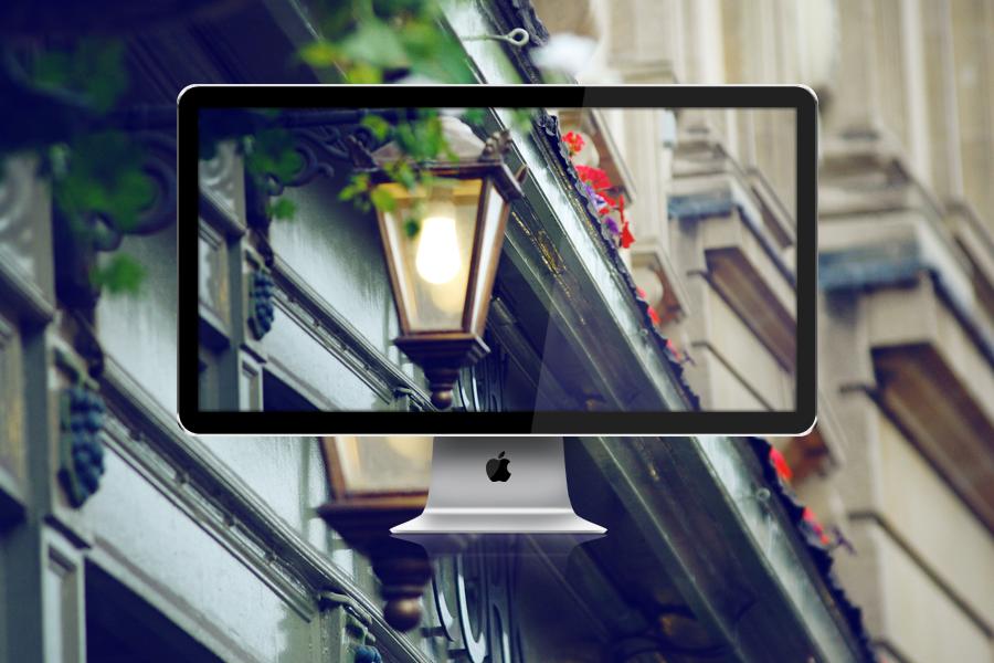 Lantern Wall - London Street by JackieTran