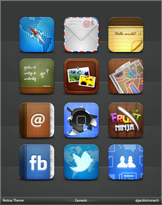Genesis Theme for iPhone 4 by JackieTran