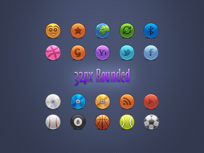 32px Rounded icons set