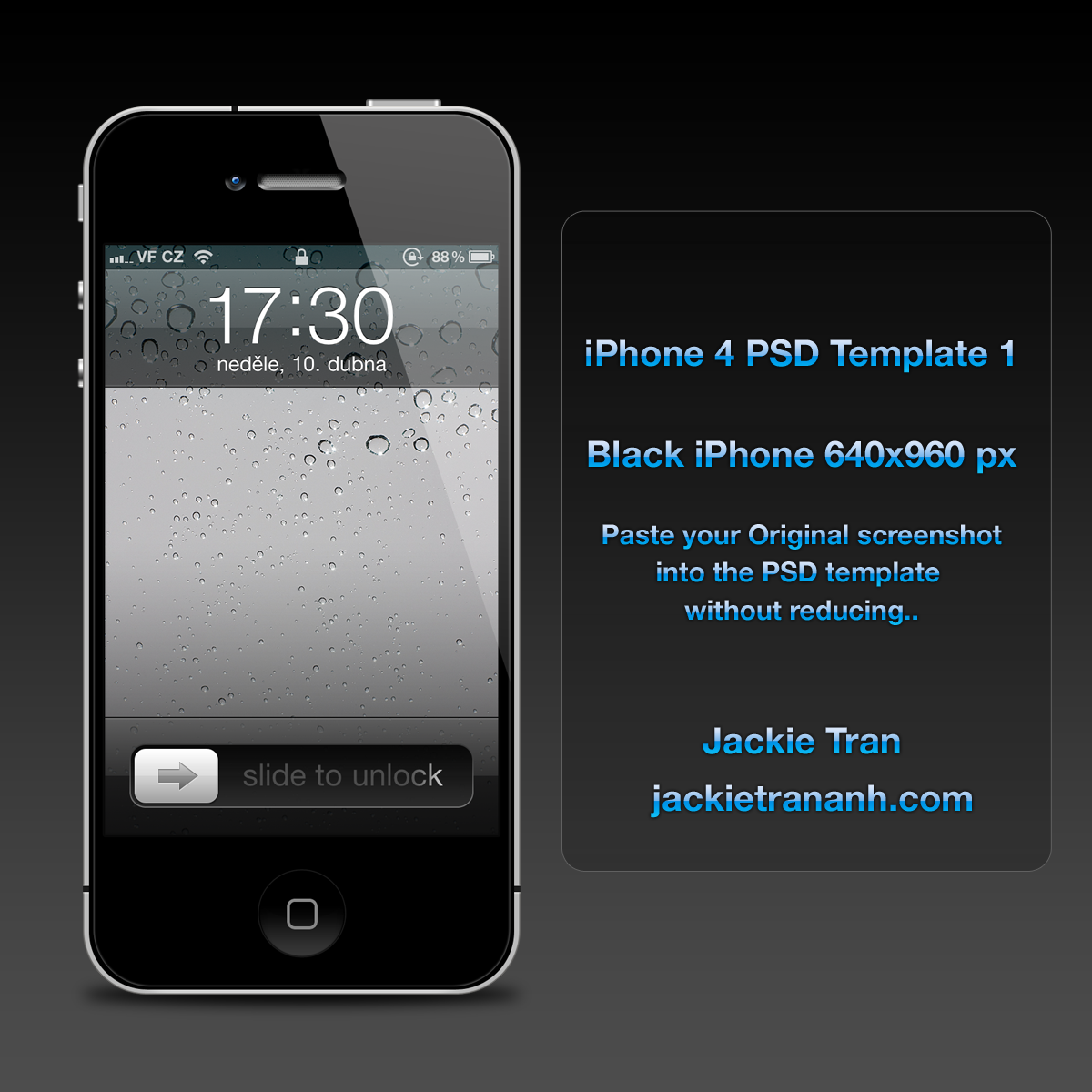 iPhone 4 Template v.1 by JackieTran on DeviantArtIphone 4 Template