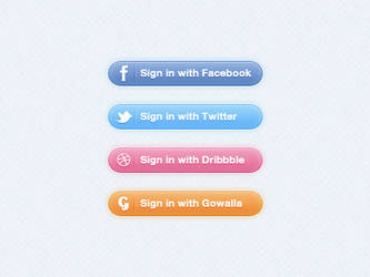 Sign in buttons PSD by JackieTran