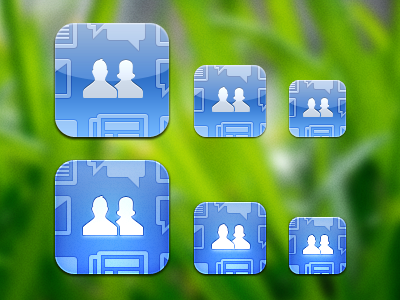 Glossy and Matte old FB icons by JackieTran