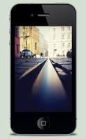 Tram Track iPhone Wallpaper by JackieTran