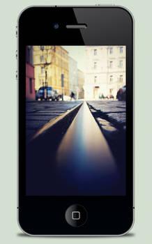 Tram Track iPhone Wallpaper