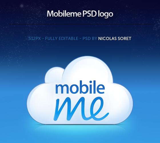Free Mobileme logo PSD
