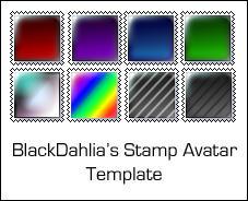 Stamp Avatar Template by blackdahlia