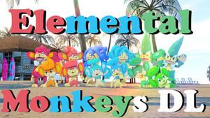 Elemental Monkeys DL by Tsuna178