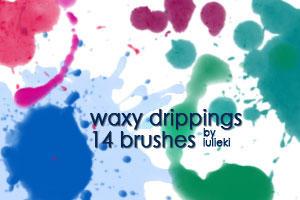 Waxy Drippings Brushes by iulieki