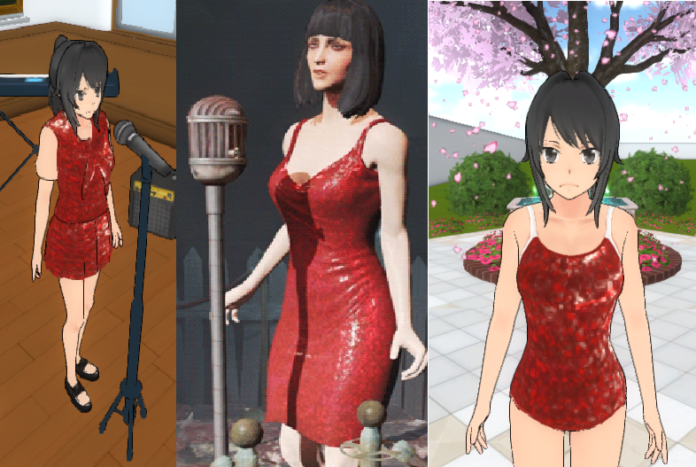 Fallout 4 Red Dress Skin | Yandere Simulator Skin by Jelly-Bearby ...