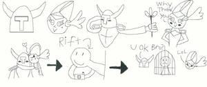 Shovel Knight and Shield Knight Doodles