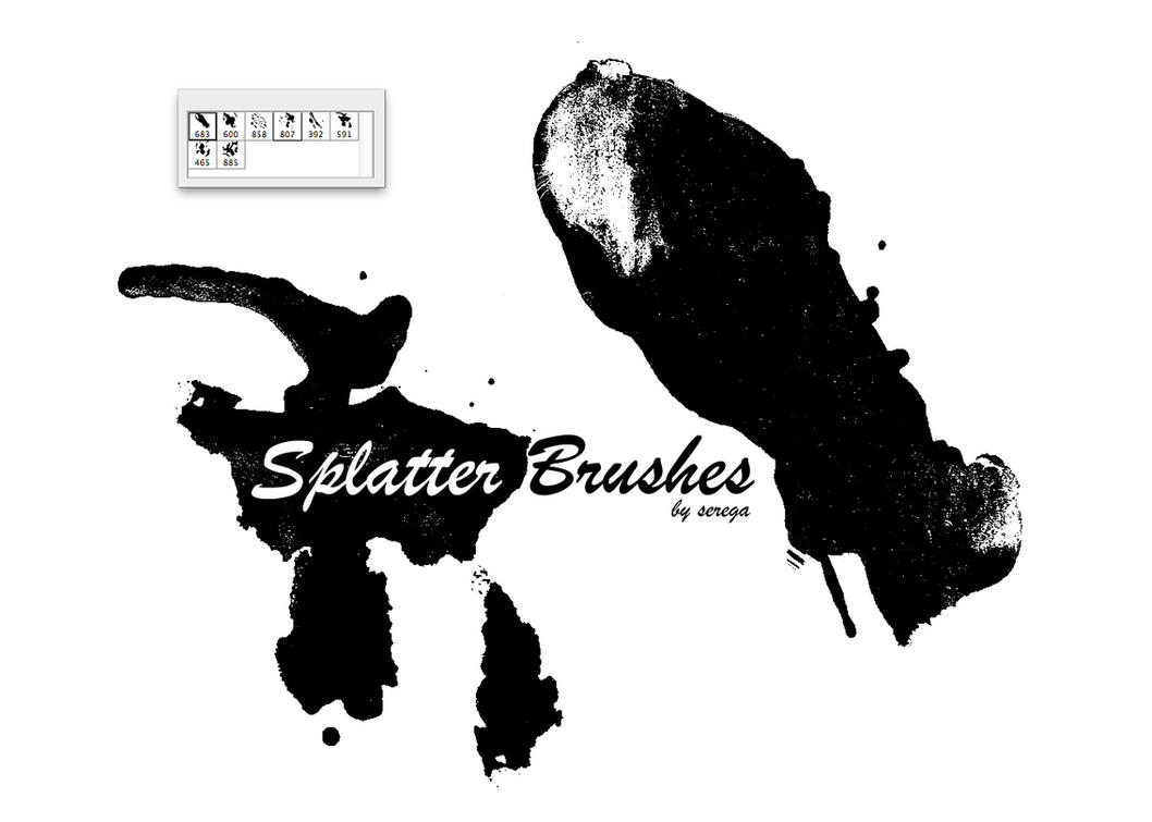 Splatter Brush Set by serega