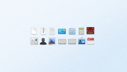 A set of small icons