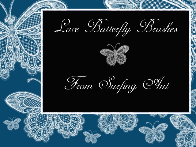Lace Butterfly Brushes