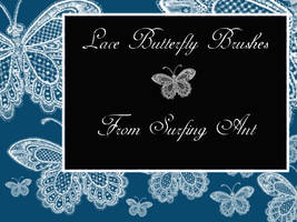 Lace Butterfly Brushes by surfing-ant