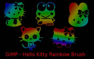 Hello Kitty Rainbow Gimp Brush by TheyCallMeIvy