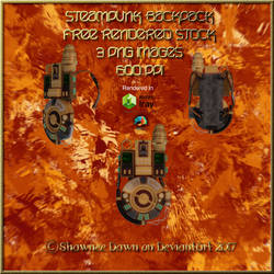 SteamPunk BackPack Stock Pack