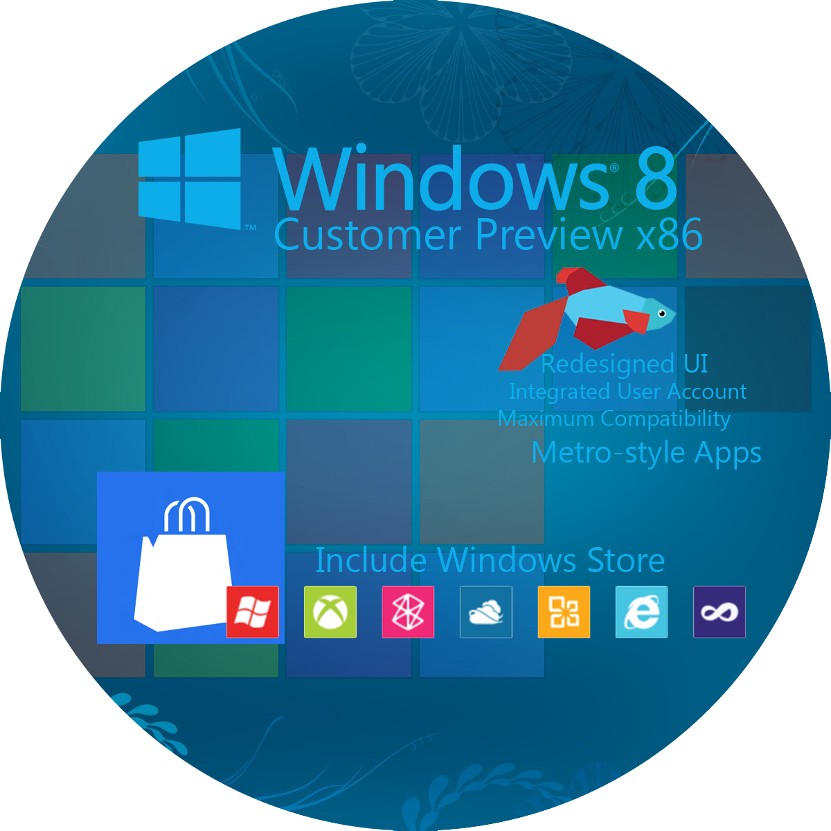 Windows 8 Disc Label Design (32 And 64 Bit) By Risk1996 On