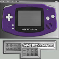Gameboy Advance Indigo Skin by TheCloudOfSmoke