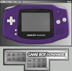 Gameboy Advance Indigo Skin