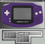 Gameboy Advance Indigo Skin