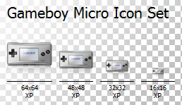 Gameboy Micro Icon Set by TheCloudOfSmoke