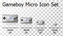 Gameboy Micro Icon Set