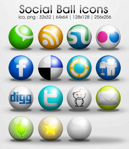 freebie: Ball social icons