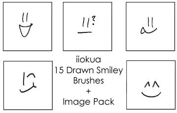 15 Drawn Smiley Brushes by iiokua