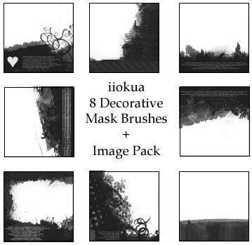 8 Decorative Mask Brushes by iiokua