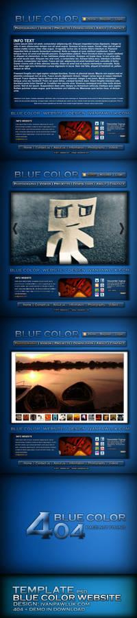 BLUE COLOR website - Pawluk
