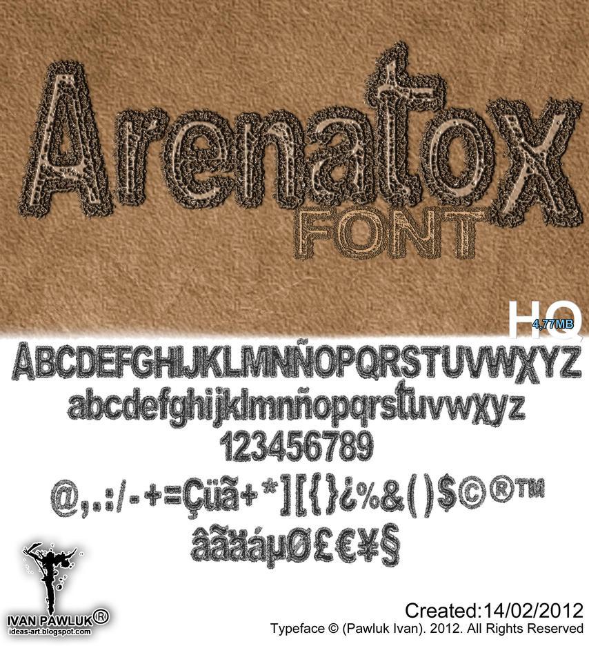 Arenatox font Pawluk by ipawluk