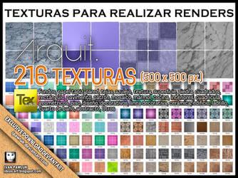 216 TEXTURAS PARA REALIZAR RENDERS