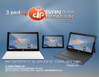 Microsoft Surface Tablet DIP   PSD