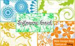 5 Flowers Photoshop Brushes