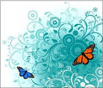 Flowers and Butterfly Vectors