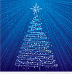3 Free Vector Christmas Trees Backgrounds
