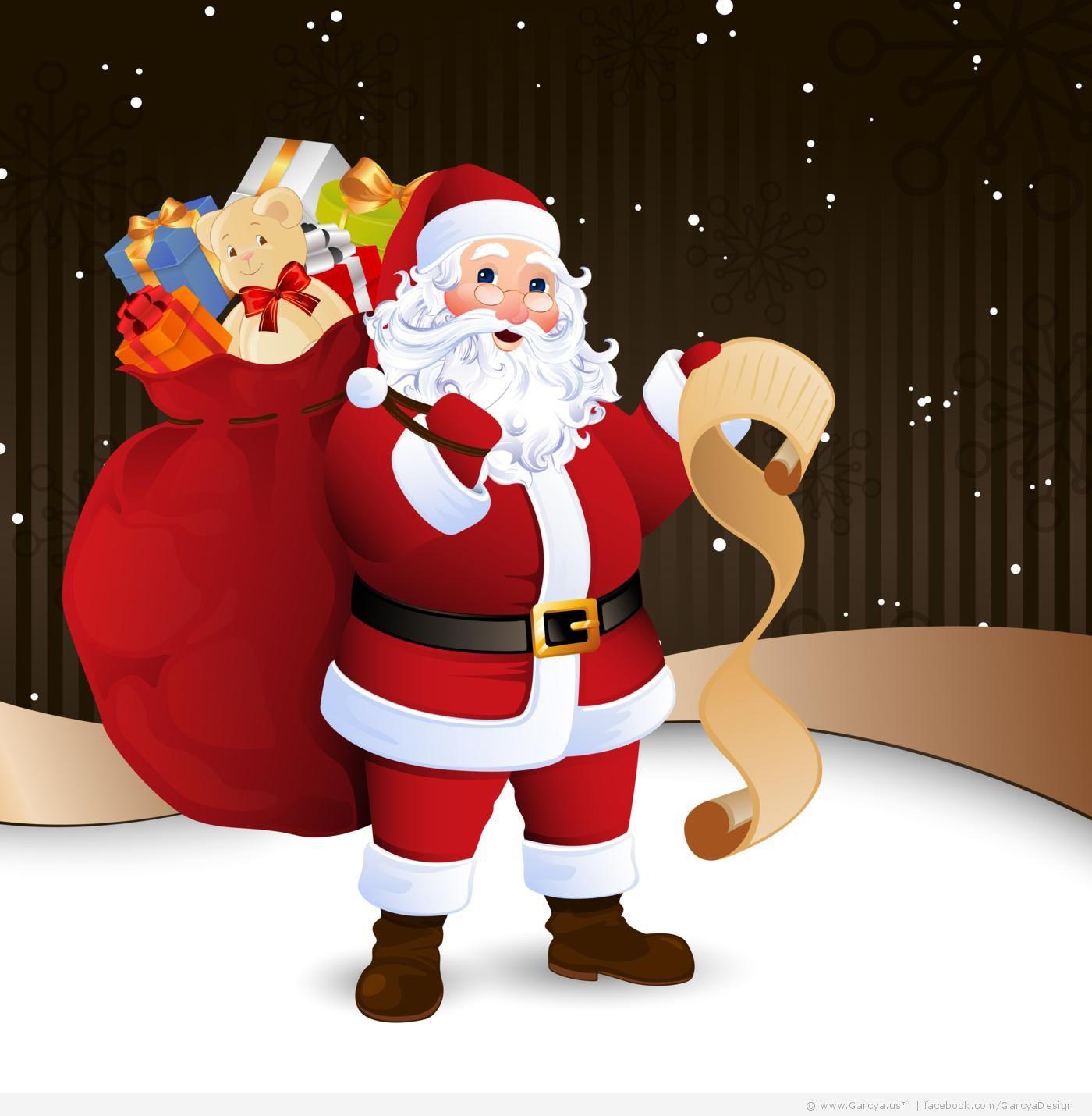 5 Free Vectors with Santa Claus