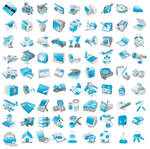 81 Free Vector Blue Icons