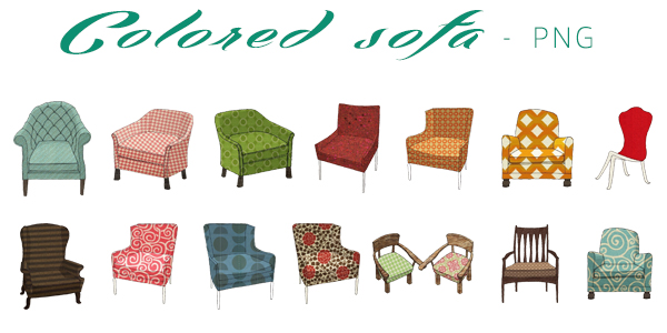 PNG#6 Colored Sofa by miaoaoaoao