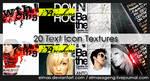 20 Text Icon Textures