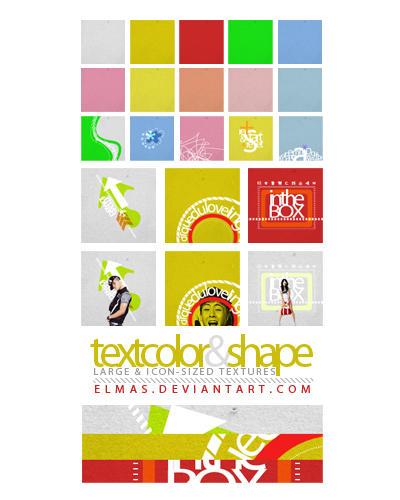TextColorShape Textures by Elmas
