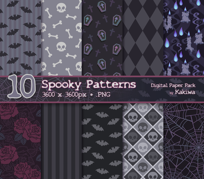 Spooky Patterns Pack