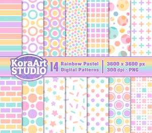 Rainbow Pastel Pattern Pack