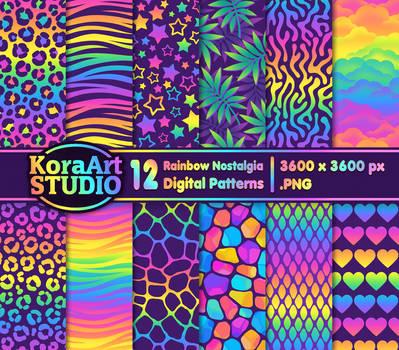 Rainbow Nostalgia Pattern Pack