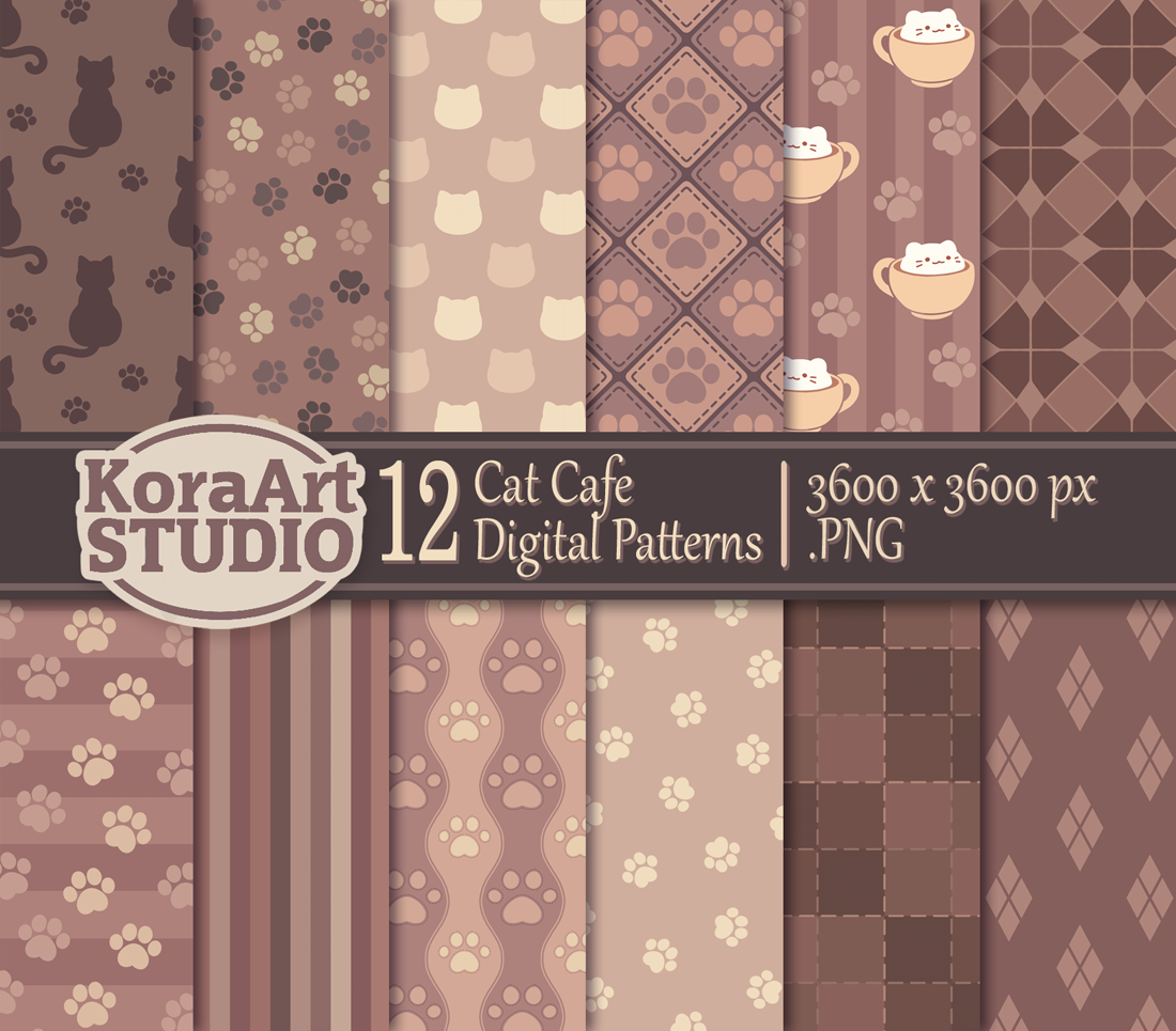 Cat Cafe - Pattern Pack