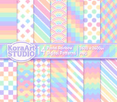 Pastel Rainbow - Pattern Pack