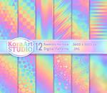 Seamless Rainbow Pattern Pack