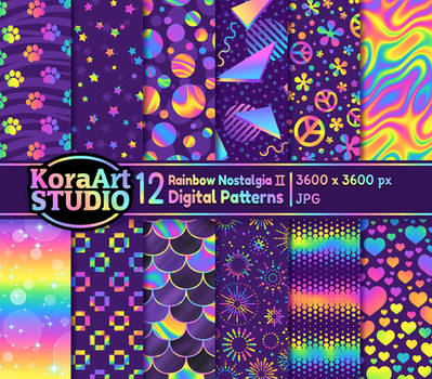 Rainbow Nostalgia II - Pattern Pack