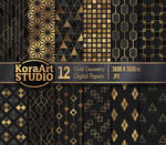 Gold Geometry - Pattern Pack